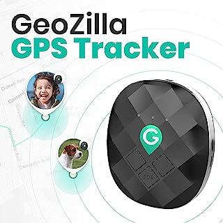 GeoZilla GPS 定位追踪器,适用于儿童老年宠物狗行李箱 | 使用蜂窝、WiFi 和 GPS | 准确轻便 | SIM 卡和 30 天免费服务计划预订服务
