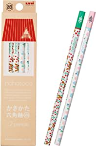 MITSUBISHI 三菱铅笔 书写铅笔 hahatoco HT01 2B 松鼠&家 1打12支装 K56102B