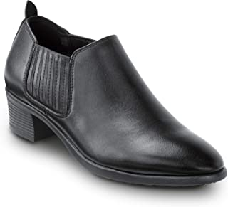 SR Max Galena 女式黑色半靴风格软鞋头防滑工作鞋