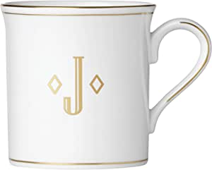 """Lenox 联邦金块交织字母餐具 字母""""J"""" 874363"""