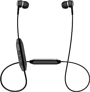 Sennheiser 森海塞尔 CX 150BT 蓝牙 5.0 无线耳机 – 10 小时电池寿命,USB-C 快速充电,两个设备连接 – 黑色 (CX 150BT 黑色)