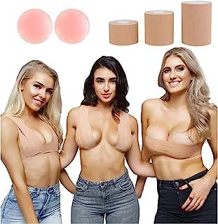 Boob Tape 乳房提升身体 DDD 文胸 即时提拉皮肤 KT 运动 DIY Gaff 隐形 肤色 3