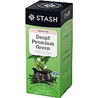 Stash Tea Decaf 高级绿茶,每盒 100 个茶袋,单独包装锡箔(包装可能有所不同),分离绿茶,日本风格绿茶…