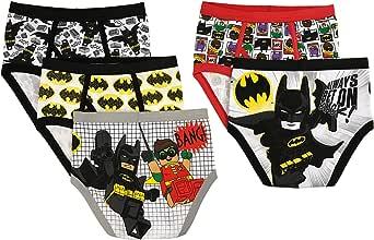 Lego 乐高 男孩小蝙蝠侠印花内裤5件装,asst,6