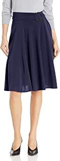Star Vixen 女式中长款全扫 Ity 针织裙,带 O 形环,可调节腰围细节