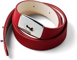 LAVA Ideal Strap U仅适合 LAVA U,52 英寸(约 132.8 厘米)舒适皮革可调节尤克里里琴肩带(红色)
