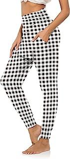 DIBAOLONG 女式瑜伽运动裤 宽松健身慢跑裤 舒适休闲裤 带口袋