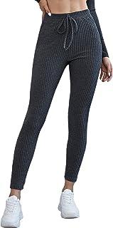 Verdusa 女式正面打结高腰罗纹七分瑜伽裤打底裤