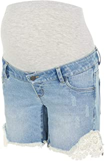 MAMALICIOUS 女士 Mlcasis Crochet 牛仔短裤 B. 孕妇短裤