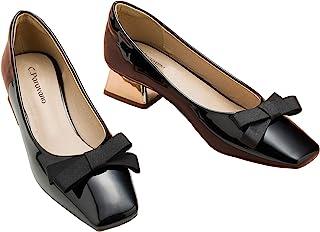 C.PARAVANO 芭蕾舞鞋 I 芭蕾平底鞋 I 女式平底鞋 I 高跟鞋 I 漆皮鞋 带镜面鞋跟 I 低跟高跟鞋