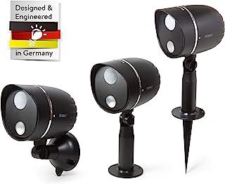 Technaxx LED 户外灯 TX-107 电池供电的 LED 灯,带 PIR 运动检测,适用于花园露台等。