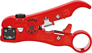 Knipex 16 60 06 SB 剥离工具,适用于同轴电缆和数据线 12.5 厘米吸塑包装