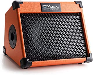 原声吉他放大器,20 瓦便携式蓝牙放大器,适用于吉他原声,带混响合唱效果,3 频 EQ