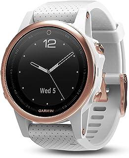 Garmin 高级 fēnix 5s 小型多运动GPS智能手机,高级坚固耐用,蓝宝石玻璃,玫瑰金/白色