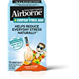Airborne Everyday Stress Away 维生素 C + L-茶氨酸 & B 族维生素,热情橙子口味混…