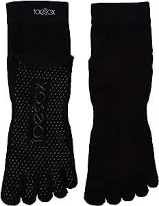 toesox 女式脚踝全头手柄防滑适用于 yoga ,普拉提, barre ,芭蕾粉脚趾袜