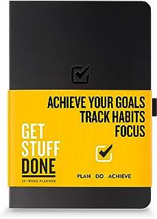Get Stuff Done Planner for Productivity - 13 周无日期计划,8.3 英寸 x 5.5 英寸(约 21.1 厘米 x 14 厘米) - 每月、每周和每日议程 - 全焦点和实现目标 - 男女个人组织者