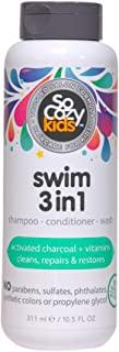 SoCozy Splash 游泳三合一洗发露 + 护发素 + 沐浴露 - 清洁和修复受泳池化学物、海水和水和水和阳光损坏的* - 柠檬香味,10.5 液体盎司