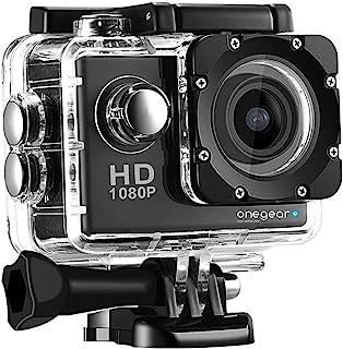 ONEGEARPRO FUN 1080 ENJOY 2020 运动相机全高清 1080P 屏幕 2 英寸黑色带外壳 Sub 30 米