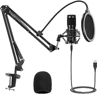 USB 电容麦克风,BlitzWolf 电脑麦克风 192KHZ/24 位即插即用工作室流式心形麦克风,带专业声音芯片组,用于录音广播 YouTube 游戏