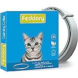 Fedciory 猫咪舒缓项圈,可调节放松减少*的Pheromone 您的宠物持久自然平静项圈,*大适合 15 英寸猫咪