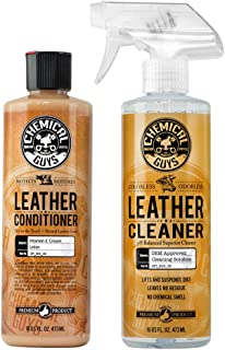 Chemical Guys 真皮清洁护理套装,16盎司,473毫升(2瓶)