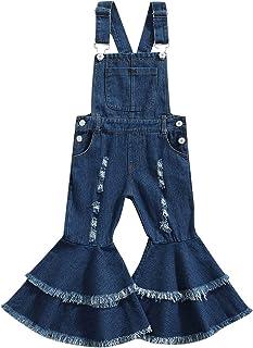 幼儿女孩连身衣连身衣彩色挂脖铃底裤连身衣