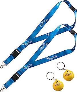 官方包装 2 个悬挂带 + 2 个钥匙扣,Rafa Nadal Academy by Movistar