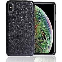 HUN CONCEPT 真皮保护套 iPhone Xs Max - 超薄贴合保护套卡扣式手机壳,适用于 iPhone X…