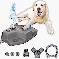 keren 狗喷泉,自动狗洒器玩具,爪子激活狗饮水器,带 3 个喷嘴,9.8 英尺(约 2.4 米)软管和 Y 型分配器…