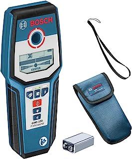 Bosch 博世 数字探测器GMS 120(1件 9 V块电池,保护壳,钢/铜/带电电缆探测深度深达:120/80/50 mm)