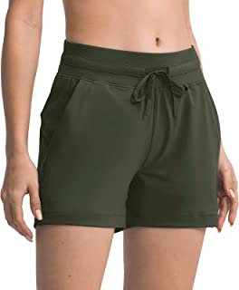 Boladeci 女式夏季锻炼跑步休闲短裤瑜伽短裤带口袋舒适短裤