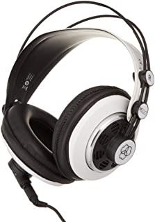 AKG M220 Pro Stylist 专业大隔膜 DJ 半开高清头戴式工作室耳机 - 白色