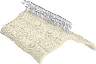 Amazon Basic 衣架 100 个装 衬衫 礼服用 象牙色/米色 天鹅绒制