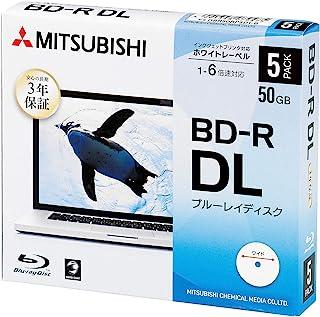 三菱化学媒体 Verbatim 1次记录用 BD-R DL DBR50RP5D1-B (单面2层/1-6倍速/50GB/5张装/喷墨打印机适用)