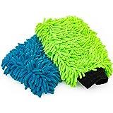 The Rag Company - 优质雪尼尔超细纤维Knobby 水洗手套 - 非常适合洗车和细节;无划痕,无绒,双面…