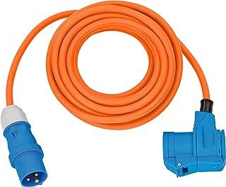 Brennenstuhl 野营 CEE 延长电缆 带 CEE 插头和角接头 包括保护接触组合插座 (10 米橙色 230 V / 16A 户外使用,德国制造)