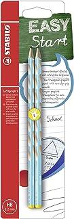 左撇子的窄三角铅笔 - STABILO EASYgraph S - 2 件装 - 硬度 HB 2er Blister 蓝色