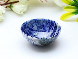 ZAICUS 青金石 Lazuli 水晶*宝石手工雕刻装饰碗精神礼品*托盘盘碟子超自然 Aura 清洁增强家庭和厨房装饰尺寸 45-50 毫米
