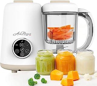 Avec Maman – 婴儿厨师,4 合 1 婴儿食品处理器 – 婴儿食品搅拌器   蒸锅   保温瓶   保温器   *器 - 婴儿食品机   不含 BPA