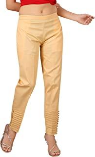* 纯棉女士长裤,休闲穿着,舒适办公,修身,紧身纯色长裤   Pintex & Pearls 条纹裤