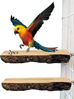 木栖息地鸟平台鹦鹉架游乐场笼配件,鹦鹉睡站站立喂养场所,适用于鹦鹉鹦鹉、澳洲鹦鹉、非洲灰鹦鹉锻炼。