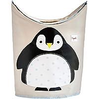 3 Sprouts 洗衣篮 – 婴儿储物篮收纳箱适用于婴儿衣服 企鹅