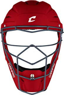 Champro Optimus Pro 橡胶哑光曲棍球风格棒球/垒球捕手头套,成人