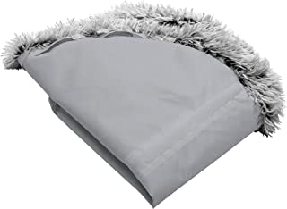 Furhaven 宠物床套 - 长毛绒人造毛皮圆形超*深盘垫可水洗甜圈狗床套,雾灰色,特大号 (XL 码)