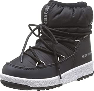 Moon-boot 男式 Jr Girl 低尼龙 WP 雪地靴