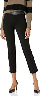 PAIGE 女式 Camilla 素食皮革 Transcend 针织高腰直筒裤