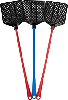 OFXDD 橡胶飞翔器, 长飞式抽水器套装,Fly Swatter 重型,红色和蓝色(3 件装)