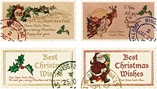 礼品贴纸 圣诞节 复古圣诞老人 4种组合(100张) XAQ-1S