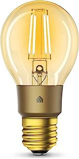 Kasa Smart TP-Link的Kasa智能Wi-Fi LED灯泡,灯丝A19 E26智能灯泡,琥珀色2000K暖色,可调光,无需集线器,与Alexa和Google助手兼容,古色古香的复古风格(KL60)